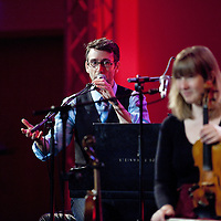 Picture Shows :<br /> Mac Morin <br /> Patsy Reid (Fiddle), Luke Daniels (Melodeon & zither banjo), Mac Morin (Piano and Step dancer).<br /> <br /> NEW MUSIC BIENNIAL 2014 <br /> GLASGOW ROYAL CONCERT HALL<br /> 1st – 2nd August 2014<br /> <br /> New Music Biennial is a PRS for Music Foundation initiative, in partnership with Creative Scotland, Arts Council England and the British Council. It is presented in collaboration with BBC Radio 3, NMC Recordings, Southbank Centre and Glasgow UNESCO City of Music.<br /> <br /> The New Music Biennial is an international celebration - part of Glasgow Culture 2014, the cultural programme of the Commonwealth Games.<br /> <br /> PRS for Music Foundation is the UK's leading charitable funder of new music across all genres. Since 2000 PRS for Music Foundation has given more than £19 million to over 4500 new music initiatives by awarding grants and leading partnership programmes that support music sector development. <br /> <br /> Picture Drew Farrell<br /> Tel : 07721-735041<br /> <br /> For Further information please contact :<br /> Liam McMahon ( Comms Manager)<br /> Tel : 020 7580 5544