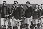 All Ireland Hurling Final 1931. Kilkenny captain Lory Meagher with Cork's captain Eudie Coughlan and Jim Hurley.