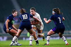 Abbie Scott of England Women is tackled by Helen Nelson of Scotland Women - Mandatory by-line: Robbie Stephenson/JMP - 16/03/2019 - RUGBY - Twickenham Stadium - London, England - England Women v Scotland Women - Women's Six Nations