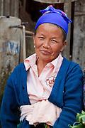 Mar. 13, 2009 -- VANG VIENG, LAOS: A vendor in the Hmong market in Phou Khoun, Laos. Phou Khoun is about halfway between Vang Vieng and Luang Prabang.  Photo by Jack Kurtz