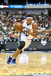 August 17, 2018 - Dallas, TX, U.S. - DALLAS, TX - AUGUST 17: Tri-State David Hawkins #34 drives towards the basket during the Big 3 Basketball playoff game between the Power and the Tri-State on August 17, 2018 at the American Airlines Center in Dallas, Texas. Power defeats Tri-State 51-49. (Photo by Matthew Pearce/Icon Sportswire) (Credit Image: © Matthew Pearce/Icon SMI via ZUMA Press)