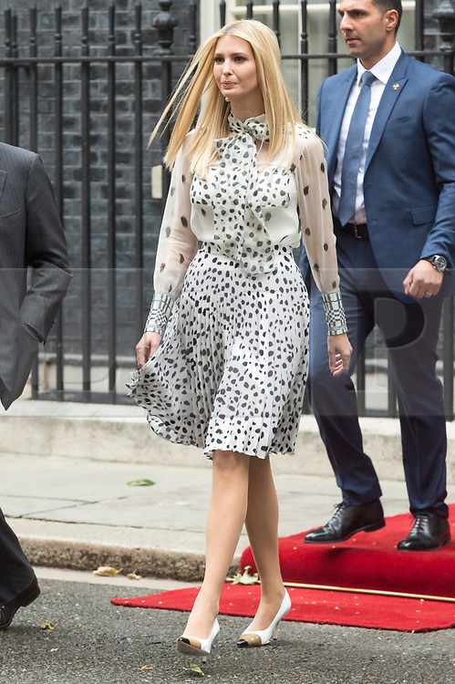 © Licensed to London News Pictures. 04/06/2019. London, UK.  Ivanka Trump leaves No.10 Downing St after a visit. Photo credit: Ray Tang/LNP