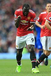 17th September 2017 - Premier League - Manchester United v Everton - Romelu Lukaku of Man Utd celebrates his assist for their 2nd goal - Photo: Simon Stacpoole / Offside.