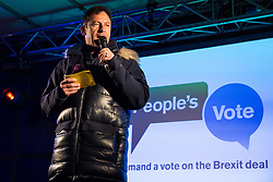 London, UK. 15th January, 2019. Jason Isaacs, actor and producer, addresses pro-EU activists attending a People's Vote rally in Parliament Square as MPs vote in the House of Commons on Prime Minister Theresa May's proposed final Brexit withdrawal agreement.