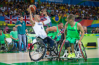 20160910 Copyright onEdition 2016©<br /> Free for editorial use image, please credit: onEdition<br /> <br /> Wheelchair Basketball player (Men) Gaz Choudhry from Ealing, London, competing for ParalympicsGB at the Rio Paralympic Games 2016.<br />  <br /> ParalympicsGB is the name for the Great Britain and Northern Ireland Paralympic Team that competes at the summer and winter Paralympic Games. The Team is selected and managed by the British Paralympic Association, in conjunction with the national governing bodies, and is made up of the best sportsmen and women who compete in the 22 summer and 4 winter sports on the Paralympic Programme.<br /> <br /> For additional Images please visit: http://www.w-w-i.com/paralympicsgb_2016/<br /> <br /> For more information please contact the press office via press@paralympics.org.uk or on +44 (0) 7717 587 055<br /> <br /> If you require a higher resolution image or you have any other onEdition photographic enquiries, please contact onEdition on 0845 900 2 900 or email info@onEdition.com<br /> This image is copyright onEdition 2016©.<br /> <br /> This image has been supplied by onEdition and must be credited onEdition. The author is asserting his full Moral rights in relation to the publication of this image. Rights for onward transmission of any image or file is not granted or implied. Changing or deleting Copyright information is illegal as specified in the Copyright, Design and Patents Act 1988. If you are in any way unsure of your right to publish this image please contact onEdition on 0845 900 2 900 or email info@onEdition.com