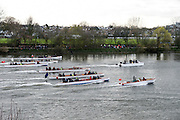 London, Great Britain.<br /> The Flotilla following the men's Boat Race.<br /> 2016 Varsity Boat Race. Championship Course Mortlake to Putney. River Thames. Sunday  27/03/2016<br /> <br /> [Mandatory Credit: Intersport images]