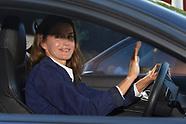 091117 Queen Letizia Take her Children to the School