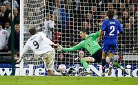 Photo: Richard Lane/Sportsbeat Images.<br />England v Croatia. UEFA European Championships Qualifying. 21/11/2007. <br />England's Peter crouch scores the second goal.