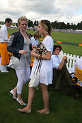 Hannah Clarke and Lady Tatiana Mountbatten, The Veuve Clicquot Gold Cup 2007. Cowdray Park, Midhurst. 22 July 2007.  -DO NOT ARCHIVE-© Copyright Photograph by Dafydd Jones. 248 Clapham Rd. London SW9 0PZ. Tel 0207 820 0771. www.dafjones.com.