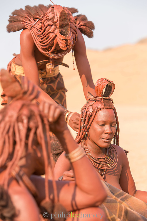 Women of the Himba Tribe, Kunene Region, Northern Namibia, Southern Africa