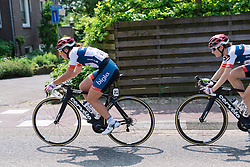 Lisa Klein and Nicole Hanselmann lead the charge for Cervélo Bigla at Boels Hills Classic 2016. A 131km road race from Sittard to Berg en Terblijt, Netherlands on 27th May 2016.