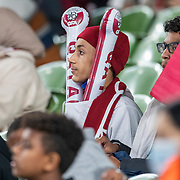 DUBLIN, IRELAND:  October 12:   Qatar supporters during the Republic of Ireland V Qatar International friendly match at Aviva Stadium on October 12th, 2021 in Dublin, Ireland. (Photo by Tim Clayton/Corbis via Getty Images)