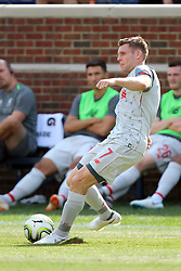 July 28, 2018 - Ann Arbor, Michigan, United States - James Milner (7) of Liverpool prepares to pass the ball during an International Champions Cup match between Manchester United and Liverpool at Michigan Stadium in Ann Arbor, Michigan USA, on Wednesday, July 28,  2018. (Credit Image: © Amy Lemus/NurPhoto via ZUMA Press)