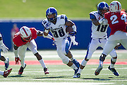 DALLAS, TX - OCTOBER 25:  Brandon Hayes #38 of the Memphis Tigers breaks free for a 36 yard touchdown run against the SMU Mustangs during the 2nd quarter on October 25, 2014 at Gerald J. Ford Stadium in Dallas, Texas.  (Photo by Cooper Neill/Getty Images) *** Local Caption *** Brandon Hayes