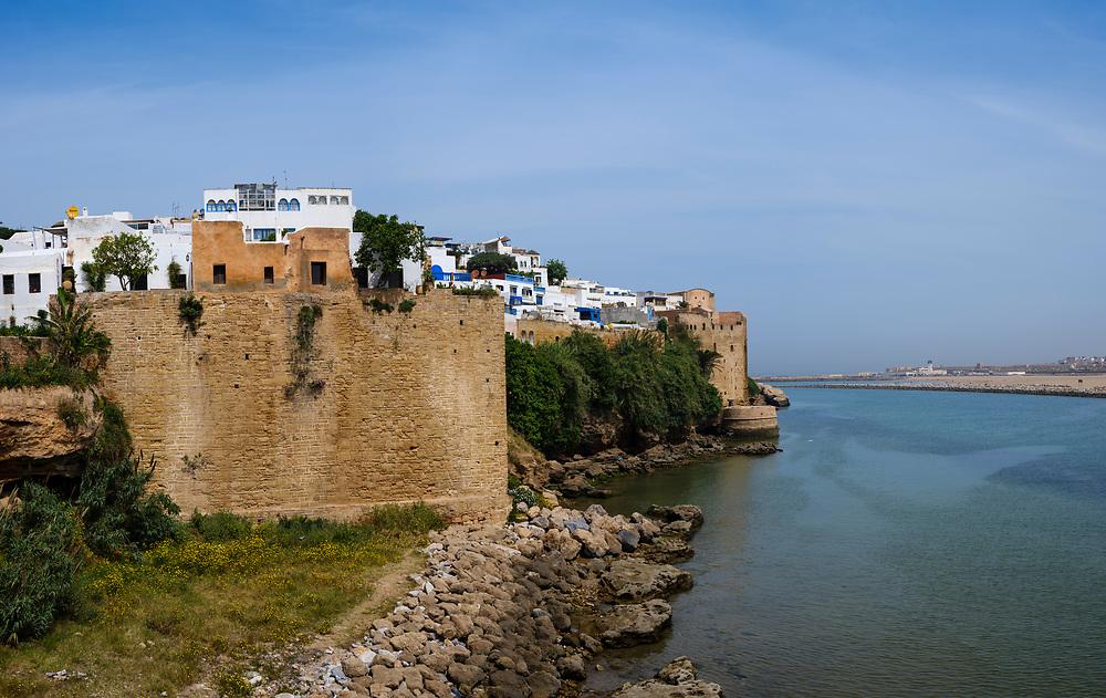 RABAT, MOROCCO - CIRCA APRIL 2017: Kasbah Oudayas in Rabat