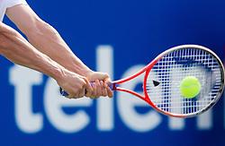 Martin Fischer's  racket in Quarterfinals during Day Four of tennis tournament ATP Challenger Tilia Slovenia Open 2013 on July 5, 2013 in SRC Marina, Portoroz / Portorose, Slovenia. (Photo by Vid Ponikvar / Sportida.com)