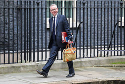 © Licensed to London News Pictures. 08/01/2020. London, UK. Michael Gove Chancellor of the Duchy of Lancaster arrives at Downing Street ahead of the meeting between the Prime Minister and the new EU chief Ursula von der Leyen. Photo credit: Alex Lentati/LNP