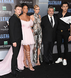 'Valerian And The City Of A Thousand Planets' World Premiere held at the TCL Chinese Theatre. 17 Jul 2017 Pictured: Dane DeHaan, Rihanna, Cara Delevingne, Luc Besson and Kris Wu. Photo credit: Janet Gough / AFF-USA.COM / MEGA TheMegaAgency.com +1 888 505 6342