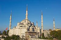 Turquie, Istanbul, centre historique classé Patrimoine Mondial de l'UNESCO, quartier de Sultanahmet, Sultan Ahmet Camii (Mosquée Bleue) // Turkey, Istanbul, the 'Blue Mosque' Sultan Ahmet Camii, Sultanahemt neighborhood