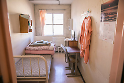 Interior of an inmate's room at Tochigi Prison for women in Tochigi prefecture, Japan.
