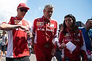 May 20-24, 2015: Monaco Grand Prix: Kimi Raikkonen (FIN), Ferrari, Maurizio Arrivabene, team principal of Scuderia Ferrari
