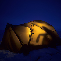 1993 Training Expedition campsite on Great Slave Lake, NWT, Canada.