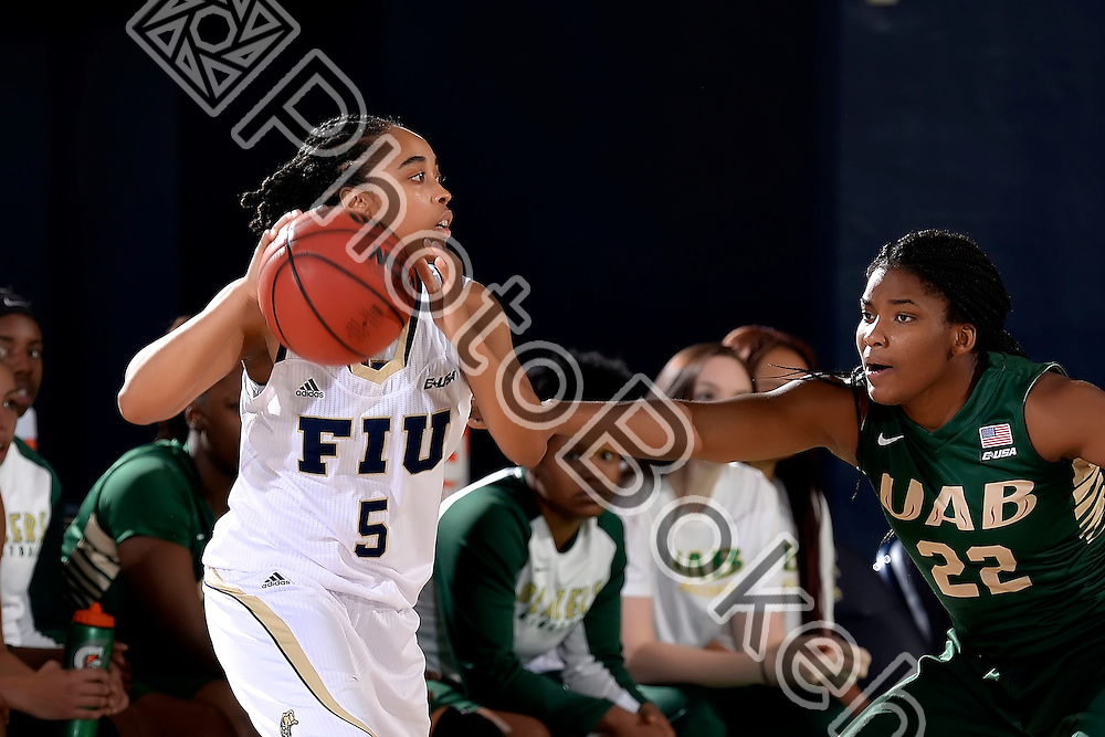 2016 February 04 - FIU's Taylor Shade (5). <br /> Florida International University defeated UAB, at FIU Arena, Miami, Florida. (Photo by: Alex J. Hernandez / photobokeh.com) This image is copyright by PhotoBokeh.com and may not be reproduced or retransmitted without express written consent of PhotoBokeh.com. ©2016 PhotoBokeh.com - All Rights Reserved