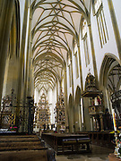 Interior view of the Basilica of St. Ulrich and St. Afra, Augsburg, Bavaria, Germany