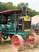 Antique J.I. Case steam tractors; Rock River Thresheree, Edgerton, WI; 2 Sept 2013