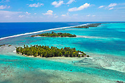 Motu , Tahaa, Society Islands, French Polynesia; South Pacific