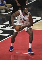 December 20, 2017 - Los Angeles, California, U.S - DeAndre Jordan #6 of the Los Angeles Clippers rebounds during their NBA game with the Phoenix Suns on Wednesday December 20, 2017 at the Staples Center in Los Angeles, California. Clippers vs Suns. (Credit Image: © Prensa Internacional via ZUMA Wire)