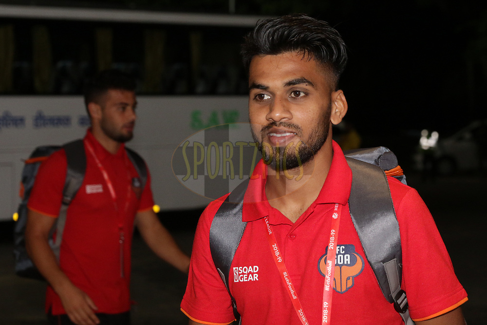 FC Goa team arrival during match 25 of the Hero Indian Super League 2018 ( ISL ) between Jamshedpur FC and FC Goa held at JRD Tata Sports Complex, Jamshedpur, India on the 1st November  2018<br /> <br /> Photo by Saikat Das /SPORTZPICS for ISL