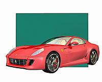 Ferrari is a vehicle that makes people think of extraordinary examples of engineering prowess. Few vehicle names are more celebrated than the Ferrari, which has defined the dreams of automobile enthusiasts for the past several generations. You can recreate those dreams with this digital painting, which can be set up anywhere you please .<br /> <br /> BUY THIS PRINT AT<br /> <br /> FINE ART AMERICA<br /> ENGLISH<br /> https://janke.pixels.com/featured/ferrari-599-gtb-fiorano-2006-jan-keteleer.html<br /> <br /> WADM / OH MY PRINTS<br /> DUTCH / FRENCH / GERMAN<br /> https://www.werkaandemuur.nl/nl/shopwerk/Klassieke-auto---Oldtimer-Ferrari-599-GTB-Fiorano-2006/435472/134