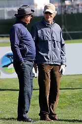 """Feb 6, 2019 Pebble Beach, Ca. USA TV, Film and singing stars that included Winners, CLINT EASTWOOD, ANDY GARCIA whom played in the """"3M Celebrity Challenge"""" to try for part of the 100K purse to go to their favorite charity and win the Estwood-Murray cup, for which team Clint Eastwwod's group won.. The event took place during practice day of the PGA AT&T National Pro-Am golf on the Pebble Beach Golf Links. Photo by Dane Andrew c. 2019 contact: 408 744-9017  TenPressMedia@gmail.com"""