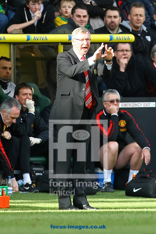 Picture by Paul Chesterton/Focus Images Ltd.  07904 640267.26/02/12.Man Utd Manager Alex Ferguson during the Barclays Premier League match at Carrow Road Stadium, Norwich.