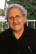 """Abraham B. (""""Bulli"""") Yehoshua (born December 19, 1936) is an Israeli novelist, essayist, and playwright. His pen name is A. B. Yehoshua, at his home in Jerusalem. On May 5, 2007."""