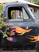 Old decorated pick-up truck in Hanapepe, Hawai'i