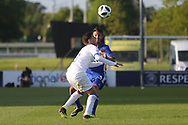 Hanan Hen Biton of Israel (3) and Giorgio Brogni of Italy (3) during the UEFA European Under 17 Championship 2018 match between Israel and Italy at St George's Park National Football Centre, Burton-Upon-Trent, United Kingdom on 10 May 2018. Picture by Mick Haynes.