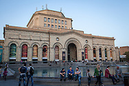 Three Syrian-Armenian friends, centre, sit outside the Armenian national Museum in central Yerevan, Armenia. The thousands of Syrian-Armenians that have arrived to Armenia since August 2012 have struggled to find jobs and work in a country facing it's own economic challenges.