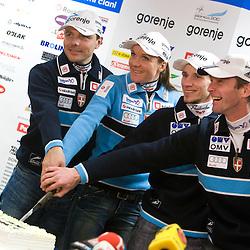 20100111: Nordic Ski - Press conference of Petra Majdic and Robert Kranjec