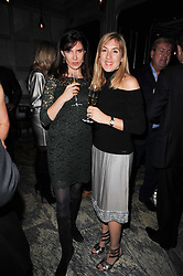 Left to right, RONNI ANCONA and    at a dinner hosted by Ruinart in honour of Amanda Wakely at The Connaught, Carlos Place, London on 20th October 2010.