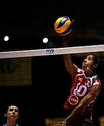 07-11-2010 VOLLEYBAL: WORLD CHAMPIONSHIP: PERU - KOREA: TOKYO<br /> Korea beat Peru with 3-1 / Leyla Chihuan<br /> ©2010-WWW.FOTOHOOGENDOORN.NL