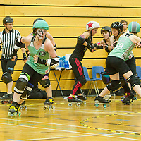 Granite City Roller Derby take on Leicestershire Dolly Rockets in the British Championships Playoffs 2017, Fenton Manor, Stoke-on-Trent, 2017-09-16