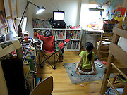 children watching television in there room