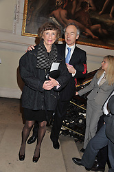 LINDY, MARCHIONESS OF DUFFERIN & AVA and ? at a private view to celebrate the opening of the Royal Academy's exhibition of work by David Hockney held at The Royal Academy, Burlington House, Piccadilly, London on 17th January 2012.