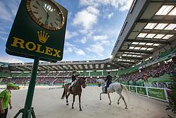Belinda Trussel, (CAN), Anton, Michael Eilberg, (GBR), Half Moon Delphi - Grand Prix Special Dressage - Alltech FEI World Equestrian Games™ 2014 - Normandy, France.<br /> © Hippo Foto Team - Leanjo de Koster<br /> 25/06/14