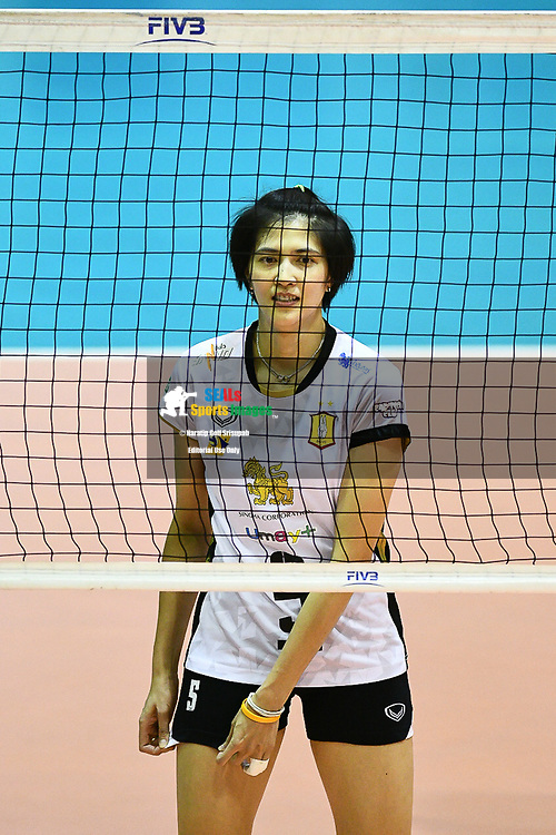 BANGKOK, THAILAND - MARCH 01: Pleumjit Thinkaow of Bangkok Glass VC #5 during the 2016–17 Women's Volleyball Thailand League, Chantarubeksa Air Force Stadium, Bangkok, Thailand on October 01, 2017.<br /> .<br /> .<br /> .<br /> (Photo by: Naratip Golf Srisupab/SEALs Sports Images)<br /> .<br /> Any image use must include a mandatory credit line adjacent to the content which should read: Naratip Golf Srisupab/SEALs Sports Images
