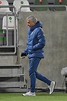 RAZGRAD, BULGARIA - NOVEMBER 05: Jose Mourinho head coach of Tottenham in action during the UEFA Europa League Group J stage match between PFC Ludogorets Razgrad and Tottenham Hotspur at Ludogorets Arena on November 5, 2020 in Razgrad, Bulgaria. (Photo by Alex Nicodim/MB Media)