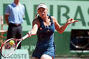 Roland Garros 2011. Paris, France. May 25th 2011..Danish player Caroline WOZNIACKI against Aleksandra WOZNIAK