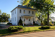 Photo showing the house where Clark Gable was born in Cadiz, Ohio.